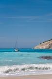 Sailing at the tropical beach Stock Image