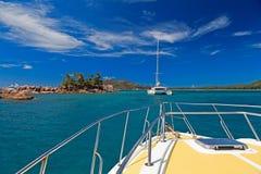 Sailing on tropical island Royalty Free Stock Photos