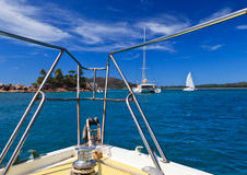 Sailing on tropical island Royalty Free Stock Images