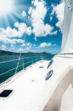 Sailing in tropical sun Royalty Free Stock Photo