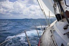 Sailing through the tropics Stock Photo