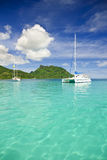Sailing in the tropics Stock Image