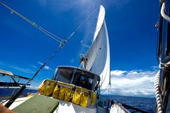Sailing in the tropics Royalty Free Stock Image