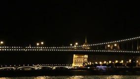 Sailing under the bridge across the Danube. Budapest. Hungary. Sailing under the bridge across the Danube. Budapest. Hungary stock video footage