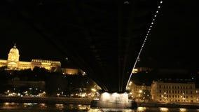 Sailing under the bridge across the Danube. Budapest. Hungary. Sailing under the bridge across the Danube. Budapest. Hungary stock video