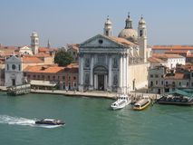 Sailing into Venice Royalty Free Stock Image
