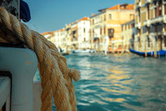 Sailing in Venice Stock Images