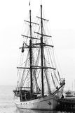 Sailing vessel. Black-and-white execution(performance Royalty Free Stock Photo