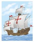 Sailing vessel. Vector illustration of retro Sailing vessel Royalty Free Stock Photos