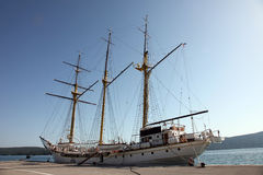 Sailing vessel at the dock Stock Photography