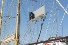 Sailing vessel green light. Sailing vessel green right side light Royalty Free Stock Photos