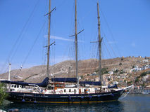 Sailing vessel in the harbor Royalty Free Stock Photo