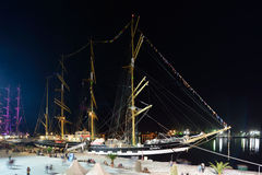 Sailing vessel Krusenstern royalty free stock photos