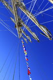 Sailing vessel mast ropes Royalty Free Stock Photos