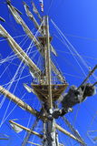 Sailing vessel mast ropes Stock Image
