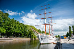 Sailing vessel Meridianas in Klaipeda, Lithuania Royalty Free Stock Photo