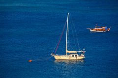 Sailing vessel  at mooring Stock Photography