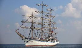 Sailing vessel Nadezhda Stock Images