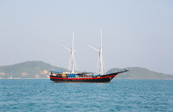 Sailing vessel off the coast of Thailand Stock Images