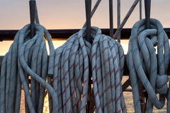 Sailing vessel ropes Royalty Free Stock Photography