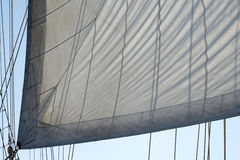 Sailing vessel. Sail ship detail Royalty Free Stock Photos