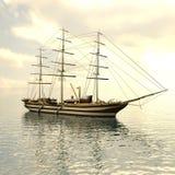 Sailing vessel in the sea Stock Image