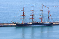 The sailing vessel Sedov Stock Photos