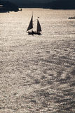 Sailing vessel in solar weather Royalty Free Stock Images