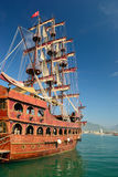 Sailing vessel in the Turkish port Royalty Free Stock Photography