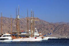 Sailing vessels in the red sea Royalty Free Stock Photos