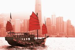Victoria Harbor Hong Kong Stock Photo