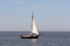 Sailing on the Wadden Sea Royalty Free Stock Photography