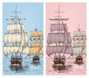 Sailing Wallpapers Or Sailboats Design Royalty Free Stock Photography