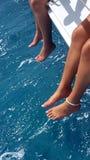 Sailing. Water fun sailing Stock Photos