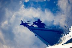 Sailing on the water surface royalty free stock images