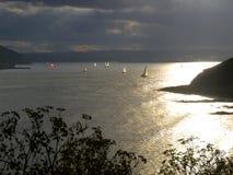 Sailing On White Bay. Sailboats at White Bay, Co.Cork, Ireland Stock Photography