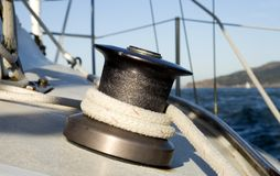 Sailing Winch Close Stock Images