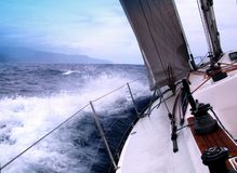 Sailing with wind stock photography