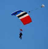 Sailing on the wind. Skydiving on a sunny day Royalty Free Stock Photos