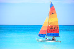 Sailing with wind royalty free stock photography