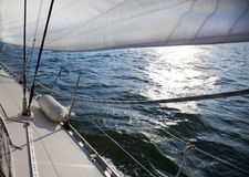 Sailing into the wind / sunlight Stock Image