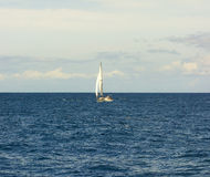 Sailing in the windward islands Royalty Free Stock Images