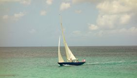 Sailing on a windy day in the windward islands Stock Images