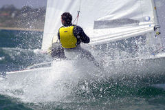 Sailing woman 002 stock photography