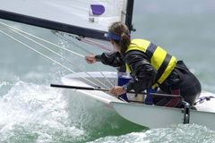 Sailing woman  Royalty Free Stock Photos