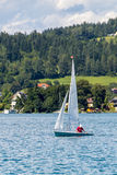 Sailing on Worthersee, Carinthia, Austria Stock Photography
