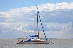 Sailing Yacht. This image shows a little sailing yacht stock photos