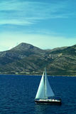 Sailing yacht. Sailing in the Adriatic sea stock image