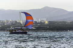 Sailing yacht Stock Photo