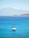 Sailing yacht. In the Ionian sea Greece Stock Photos